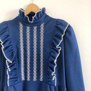 2/25 🍉 vintage 60s frilly maxi prairie dress